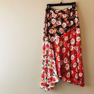 Anthropologie Floral MIDI Skirt